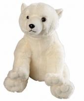 Zittende ijsbeer knuffels 30 cm