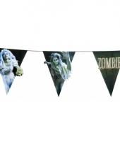 Zombie thema vlaggenlijn 4 meter