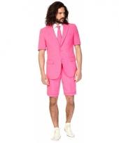 Zomer pak roze voor heren