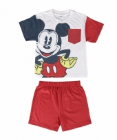 Zomer pyjama met korte broek mickey mouse