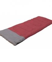 Zomer slaapzak rood met grijs