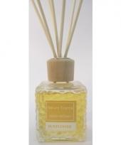 Zonnebloem geur olie verspreider met stokjes 80 ml