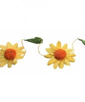 Zonnebloemen feestslingers geel oranje