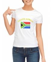 Zuid afrikaanse vlaggen t-shirt voor dames
