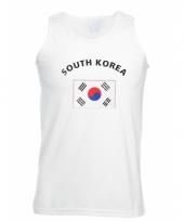 Zuid korea vlaggen heren tanktop