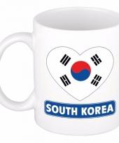 Zuid koreaanse vlag hart mok beker 300 ml