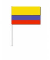 Zwaaivlaggetjes colombiaanse vlag