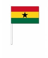 Zwaaivlaggetjes ghanese vlag