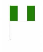 Zwaaivlaggetjes nigeriaanse vlag