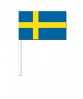 Zwaaivlaggetjes zweedse vlag