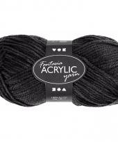 Zwart acryl 3 draads garen 80 meter