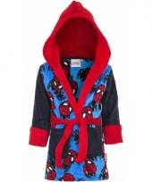 Zwart blauwe badjas spiderman