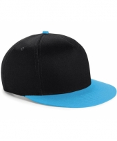 Zwart blauwe retro baseball cap voor kinderen