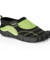 Zwart groene kids waterschoenen watersport
