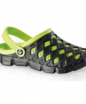 Zwart groene water sandalen