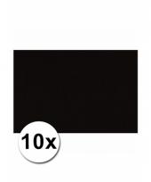Zwart knutsel karton a4 10 stuks