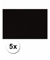 Zwart knutsel karton a4 5 stuks