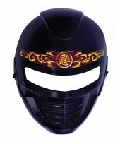 Zwart met goud ninja masker voor kids