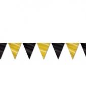 Zwart met gouden vlaggenlijn