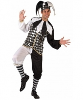 Zwart met wit clowns kostuum