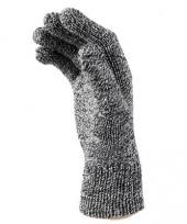Zwart met wit gebreide handschoenen