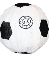 Zwart met witte voetbal pinata