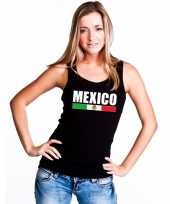 Zwart mexico supporter singlet-shirt tanktop dames