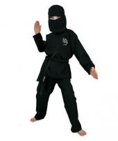 Zwart ninja kostuum voor kids