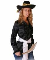 Zwart piraten shirt voor dames