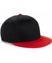 Zwart rode retro baseball cap voor kinderen