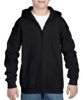 Zwart sweatshirt met rits voor jongens