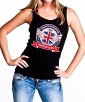 Zwart united kingdom drinking team tanktop mouwloos shirt dames