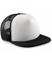 Zwart witte vintage baseball cap voor kinderen