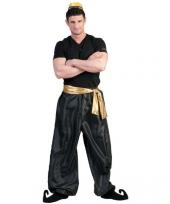 Zwarte arabische broek voor heren