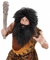 Zwarte baard met snor holbewoner