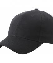 Zwarte baseball cap van katoen