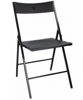 Zwarte bbq stoel