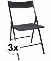 Zwarte bbq stoeltjes set van 3