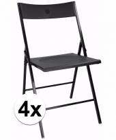 Zwarte bbq stoeltjes set van 4