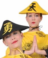 Zwarte chinese verkleedhoed voor volwassenen