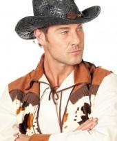 Zwarte cowboy hoed voor heren 10042567