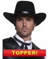 Zwarte cowboy hoed voor heren 10049649