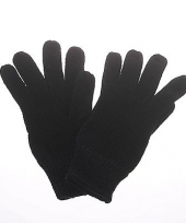 Zwarte dames heren handschoenen