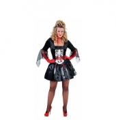 Zwarte dames jurk skelet