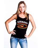 Zwarte dames shirtje met germany print