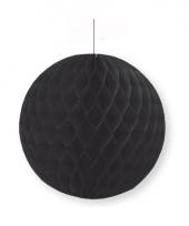 Zwarte decoratie bal 10 cm brandvertragend