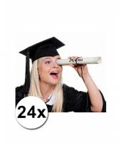 Zwarte diploma hoedjes 24x