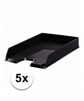 Zwarte documentenbak a4 5x