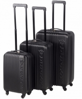 Zwarte dunlop bagage trolley 56 cm