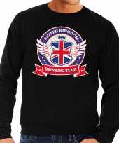 Zwarte engeland drinking team sweater heren